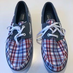Lacoste plaid boat shoes 🐊